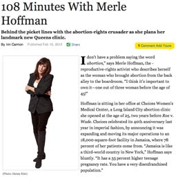 Merle Hoffman in New York Magazine